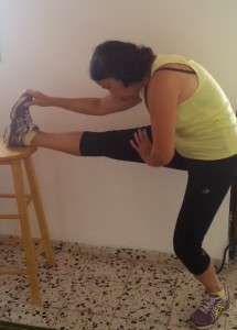 calf muscles stretching
